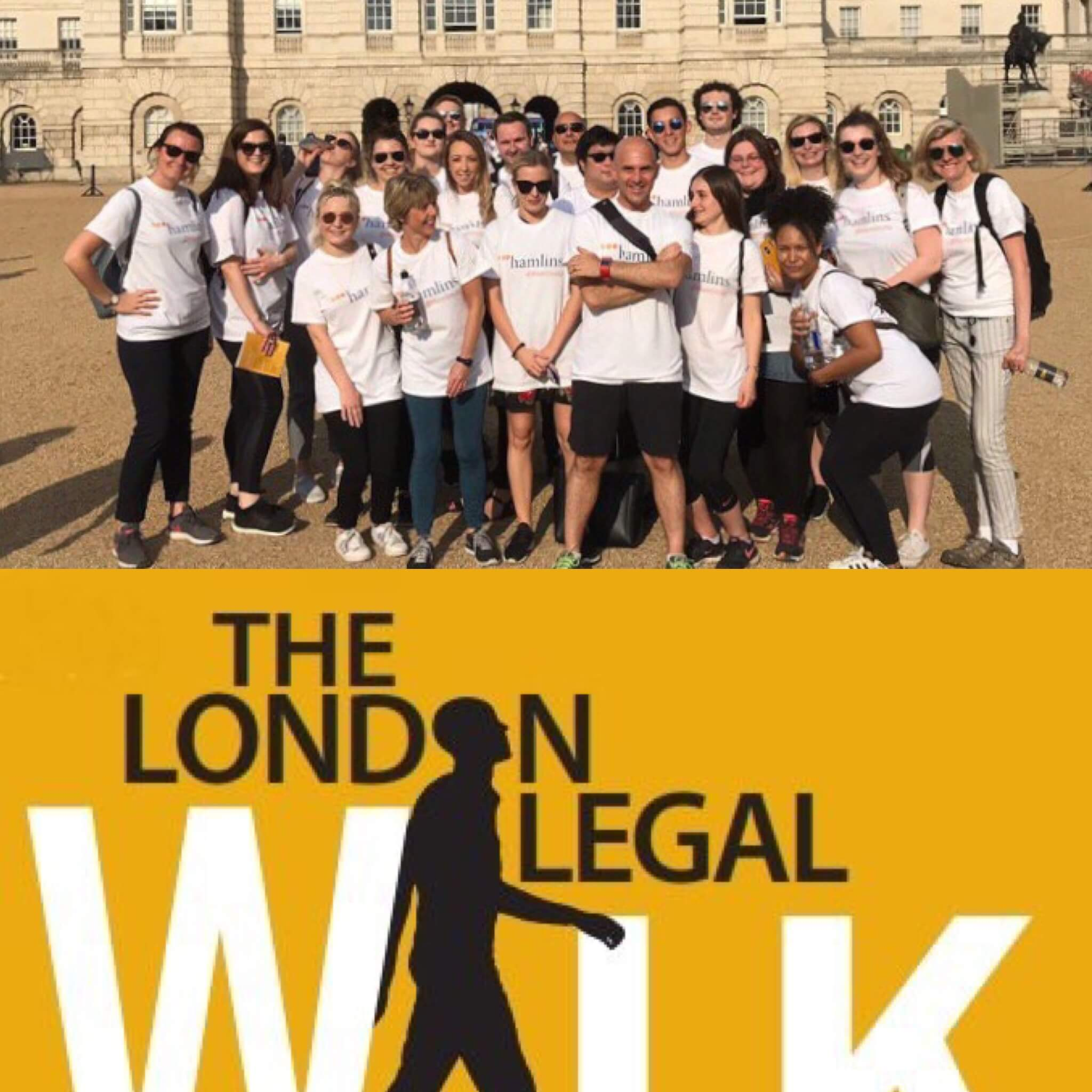Hamlins raise money for London Legal Support Trust in 10km Legal Walk, 21st May 2018